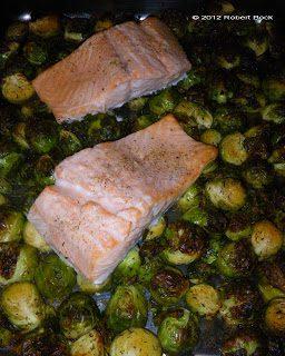 Rezept-Tipp: Λαχανάκια Βρυξελλών με Σολομός από φούρνο