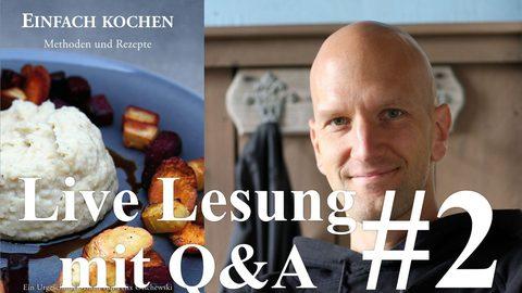 Öffentliche Lesung von Einfach kochen – Teil 2 (Video)