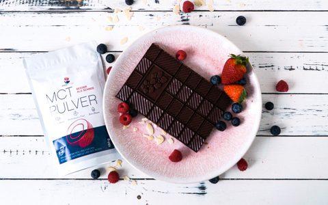 Keto Nougat Schokolade mit extra Keto-Kick