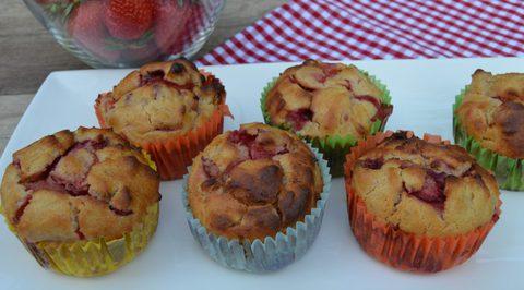 Erdbeer-Rhabarber Muffin