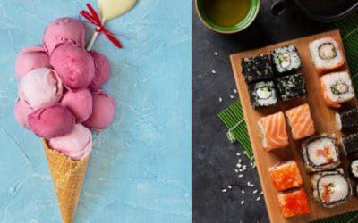 Eis oder Sushi, was ist besser? Das Mikrobiom bestimmt wie stark Dein Blutzucker ansteigt.