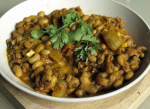 Black Eyed Beans Curry, vegan, gfcf
