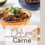 Heizt ein: Veganes Chili sin Carne mit Gemüse und schwarzen Bohnen