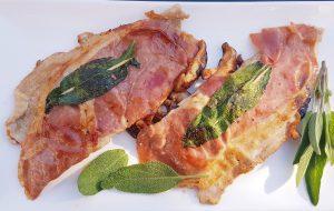Saltimbocca mit Parmesan Auberginenpüree