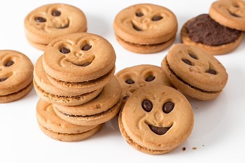 Wahrheit über Kohlenhydrate - Frech grinsende Kekse