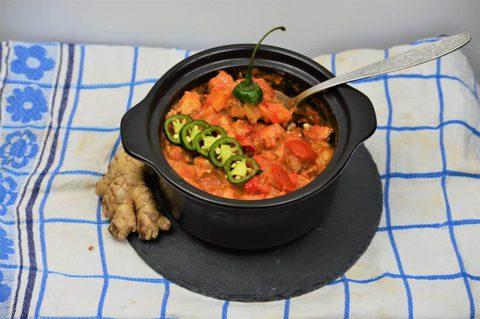Feurige Chili-Kasserolle mit Rindfleisch