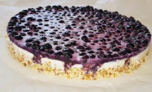 No Bake Paleo Heidelbeer-Kuchen