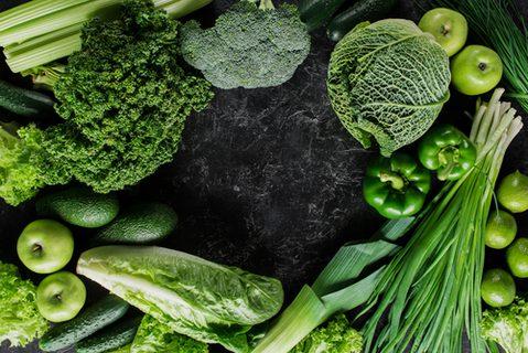 Magnesium Lebensmittel grünes Gemüse