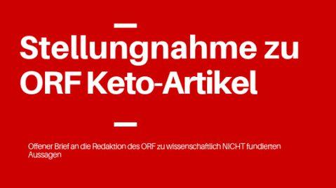 """Offener Brief an die ORF Redaktion – """"Ketogene Diät: Nichts für den Alltag"""""""