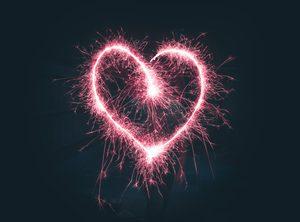 Ein Wunderkerzen-Herz