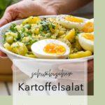 Lauwarmer schwäbischer Kartoffelsalat (ohne Mayo) – und ein Blick in meinen Balkongarten!