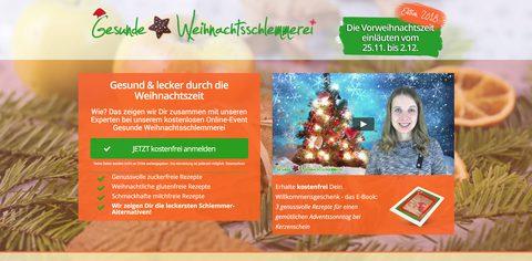 Homepage: Gesunde Weihnachtsschlemmerei