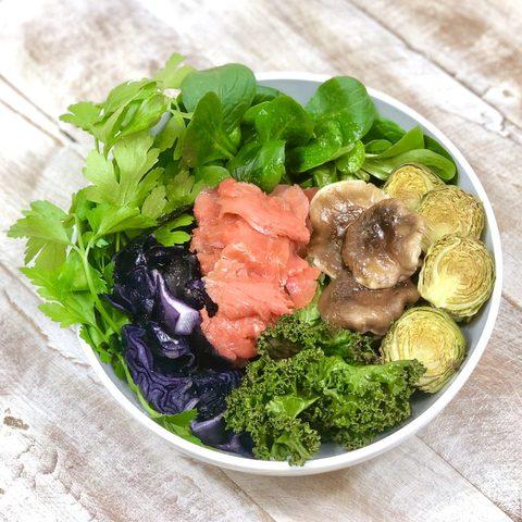Rezept für eine winterliche AIP Buddha Bowl (Paleo - Autoimmunprotokoll AIP, Paleo, Glutenfrei, Eifrei, Milchfrei.