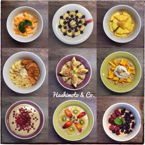 Das ist nur eine kleine Auswahl an Variationen meines geliebten Erdmandel-Porridge. Ein wirklich geniales AIP-Frühstück.