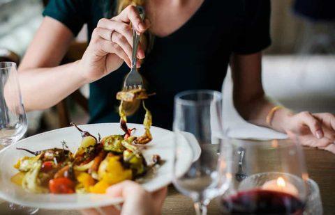 Gesund essen im Restaurant