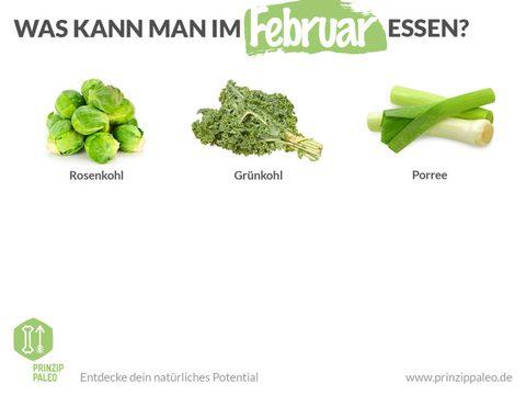 Gemüse Saison Februar