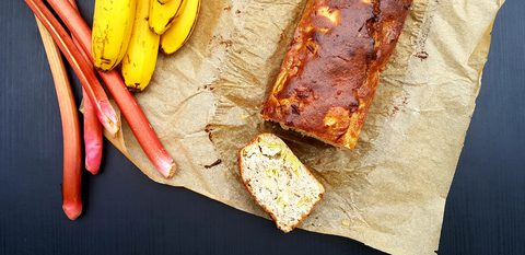 Rhabarber-Bananenkuchen