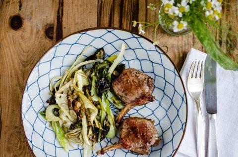 natürlich essen   Lammkoteletts mit Fenchelgemüse   Lars Brouwers & Torsten Fleischer