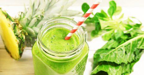 Grüner Frühstücks-Power-Smoothie