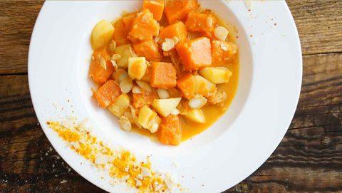 muskatkürbis curry