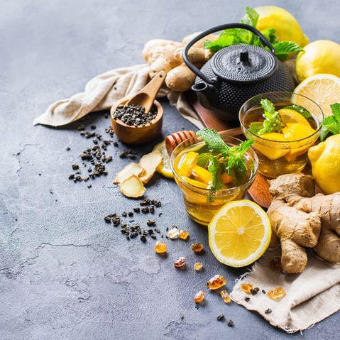 Ingwer, Zitrone, Minze, Tee