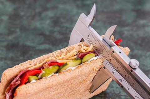 Machen Kohlenhydrate dick - Fettkaliper mit Sandwich